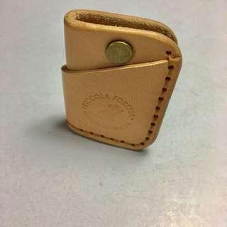 Leather mini key holder