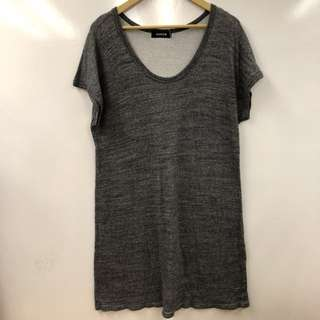 Zucca gray long tee or dress size M