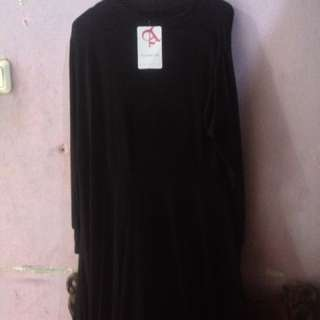 Baju gamis warna hitam