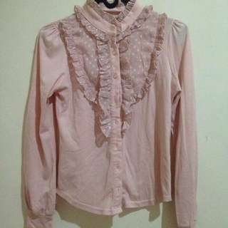 Kemeja Ribbon - Preloved