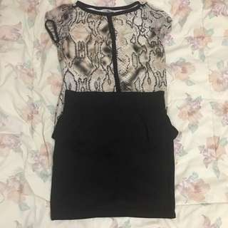 Fashionable top and skirt buy one take one!!