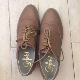 Sofab Brown Oxford Shoes