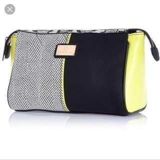 Brand New - River Island Black Colour Block Make Up Bag