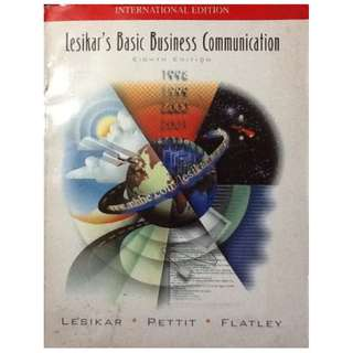 LESIKAR'S BASIC BUSINESS COMMUNICATION LesikarPettit&Flatley