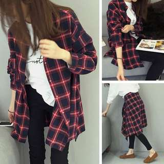 red checkered flannel