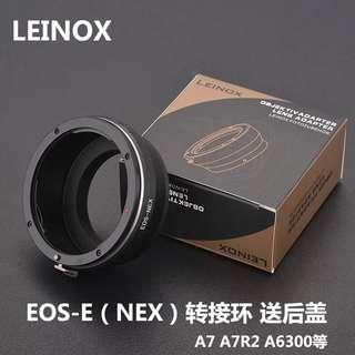Leinox EOS-Nex lens adapter Canon lens to Sony body