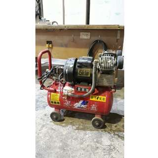 中古雙缸風壓機 風霸  5HP 60L 110V/220V/60Hz 空壓機