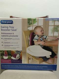 First years swing tray booster seat