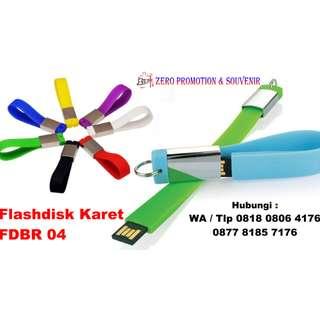 Flashdisk Karet Gantungan Kunci - fdbr04 - USB Karet Gantungan Kunci
