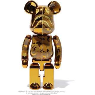 Bape Camo Shark Bearbrick Be@rBrick
