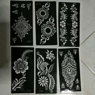 Instock Henna stencil templates