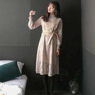 高CP值✨兩件式 蕾絲洋裝+外搭短背心 cherrykoko同款