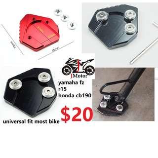 fz16 r15 xabre mx 125 msx mx125 150 r suzuki Brand New CNC Side Kickstand Stand Extension Bigfoot Plate Shoe For Honda yamaha Motorcycles