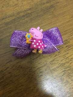 Peppa pig hair clip