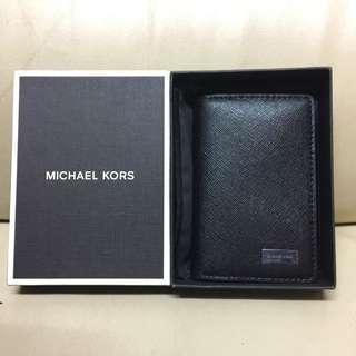 全新保証正品 Michael Kors Men's Leather Bifold card holder Wallet purse #Black MK 時尚 皮質 禮盒 卡片套 銀包 錢包名牌 男朋友 禮物 迈克科尔斯