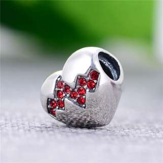 Code S105, My Heart Beats Faster 100% 925 Sterling Silver Charm compatible with Pandora