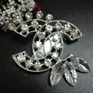 Chanel White Brooch (3 design)
