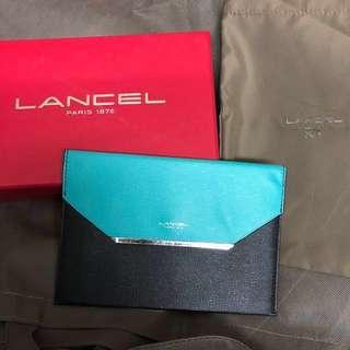 Lancel medium size wallet (Green/Black)