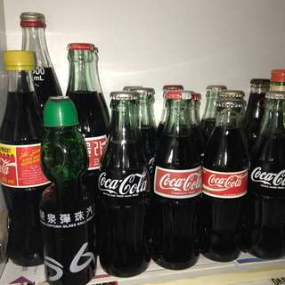 Vintage Coke Glass Bottles