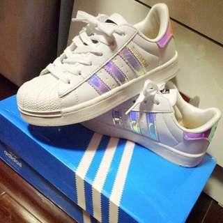 (PO) Adidas superstar holographic shoe