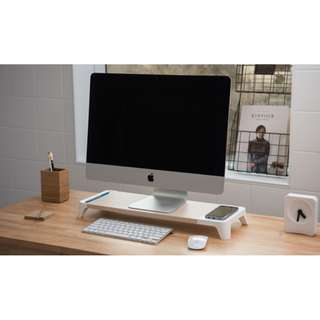 Monitor Stand with Wireless Charging station for IMac Iphone X, Pallo Woody  無線充電 (Made in Korea)