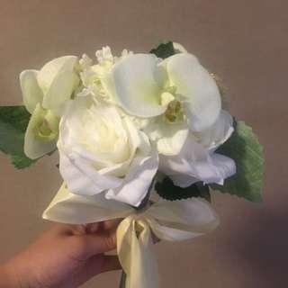 Faux flower bouquets wedding bridesmaids home decor
