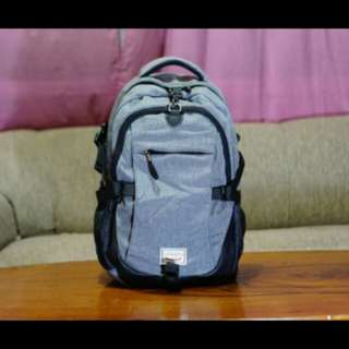 LOAGED Anti-Theft Grey Backpack