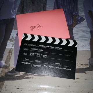 [WTS] SEVENTEEN DIRECTOR'S CUT SEUNGKWAN BUSINESS CARD