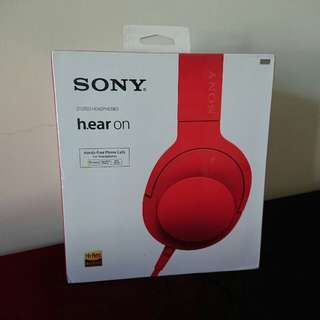 Brand New Sony MDR-100AAP Hi-Res Earphone Red