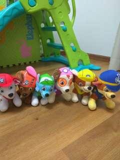 Full set of paw patrol soft toys