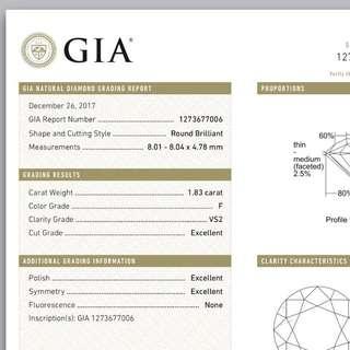GIA 1.83 卡 罕有靚鑽石