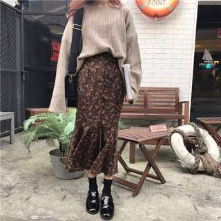Daisy fishtail long skirt