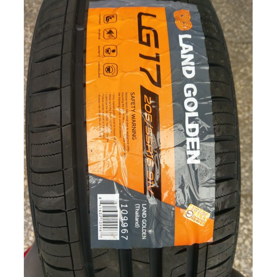 205/55/16 格登輪胎 LAND GOLDEN LG17 4溝槽 91V 耐磨指數500 抓地A級 清庫存 泰國製