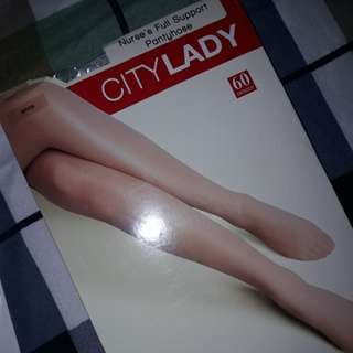 WHITE FULL SUPPORT PANTYHOSE