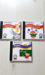 Bundle of 3 Used Brainy Baby VCDs for Toddlers