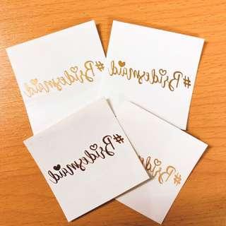 婚禮金屬紋身貼紙