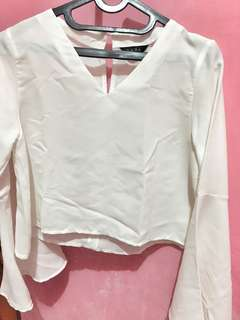 white blouse crop