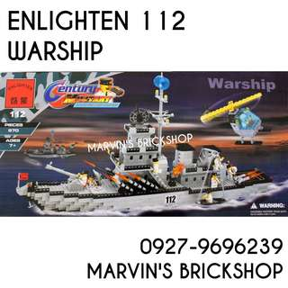 For Sale ENLIGHTEN 112 Warship Building Blocks Toy