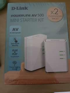 BNIB D-Link Powerline AV 500 Mini Starter Kit x2 Expansion Pack