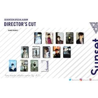 Seventeen Directors Cut Sunset Unofficial Photo Cards (13PC)