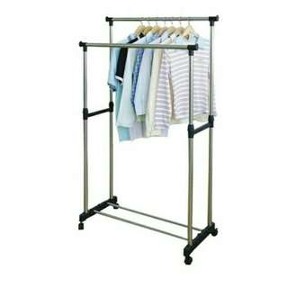 Double pole clothe rack