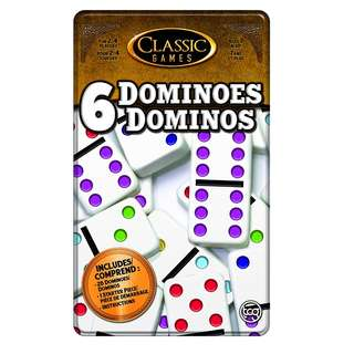 BNIB: TCG Toys Double 6 Dominoes Tiles Game with Tin Case