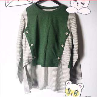 New! Blouse green