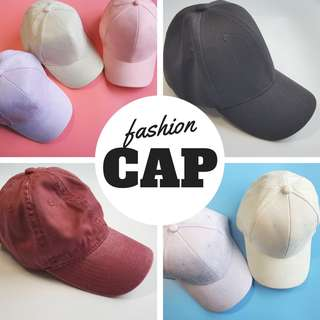 Fashion Baseball Cap - Many Choices only $6 - Velvet Pastel colors/black/washed