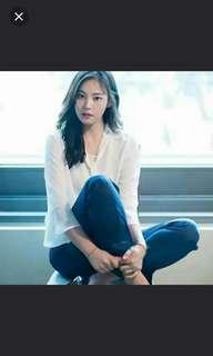 韓國大牌SPAO  超HIT新款 超靚喇叭八分袖衣領繫帶雪紡襯衫(100%new&authentic)