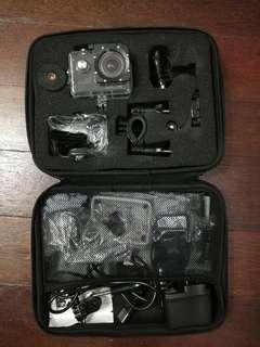 Sjcam SJ4000 wifi underwater camera with selfie monopod