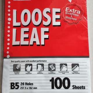 Paper loose leaf 26holes