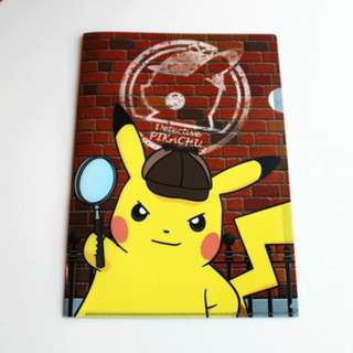 Pokemon Center Exclusive Detective Pikachu Series A4 Clearfile (Pre-Order)