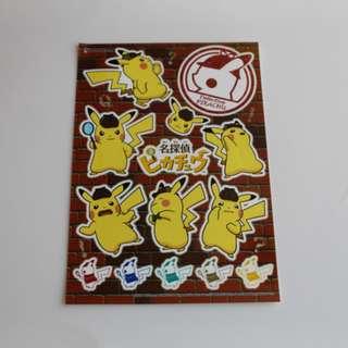 Pokemon Center Exclusive Detective Pikachu Series Seal Sticker (Pre-Order)