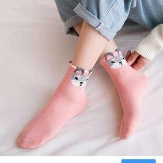 Korean Doggy Mid Cut Socks Iconic Socks 100% Cotton